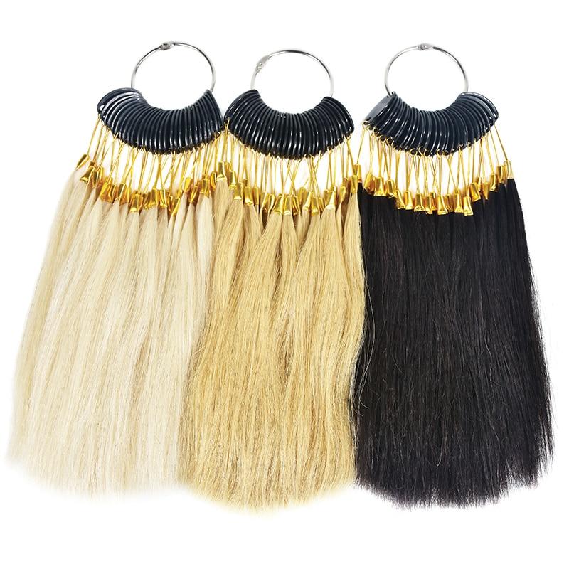 90PCS 100% Human Hair Color Rings Human Hair Color Chart Hair Color Samples Ring