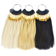90pcs/lot 100% Human Virgin Hair Color Ring For Human Hair Extensions And Salon Hair Dyeing Sample Can Be Dye Any Color Chart