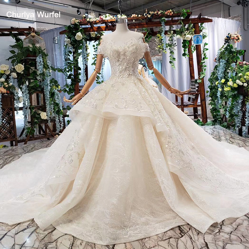 HTL583 princess wedding dress 2019 sequined off the shoulder special bridal dresses with bow free shipping vestido de noiva luxo
