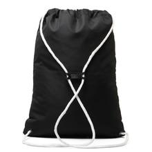 Casual Drawstring Bag Unisex Backpack Light Drawstring Drawstring Pocket