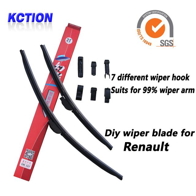 Car windshield wiper blade para renault megane 2, megane 3, laguna, cênica 2, grand scenic 2, koleos, latitude, fluência, twingo, kangoo