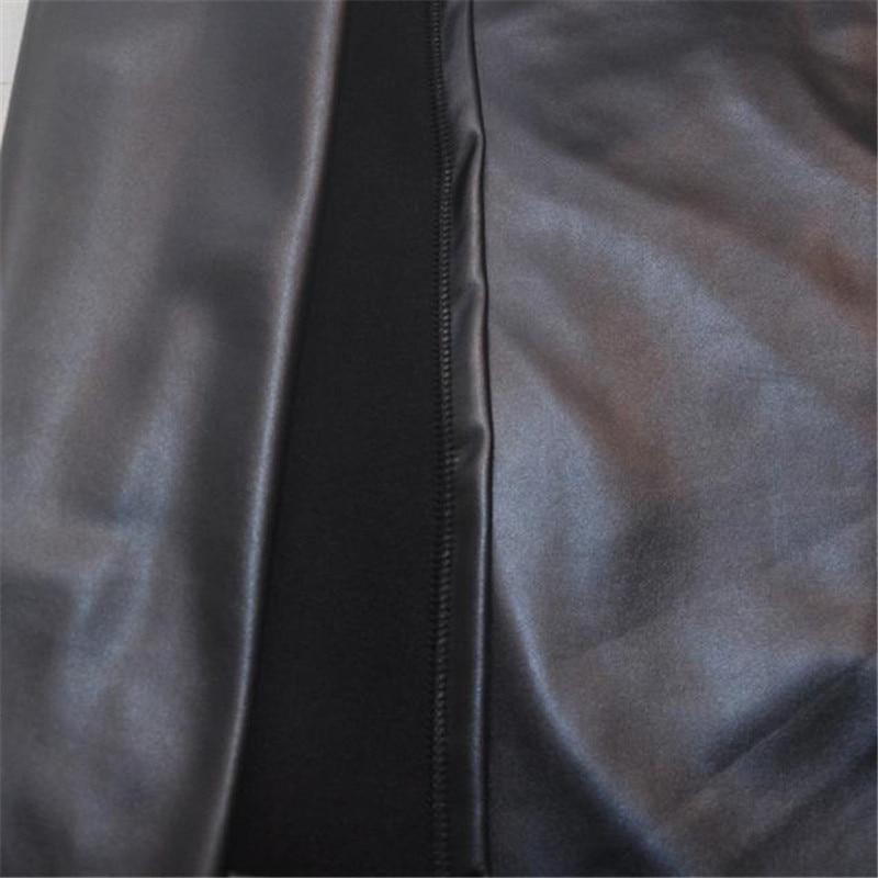 Women Leather Skirt High Waist Slim Party Pencil Skirt D3