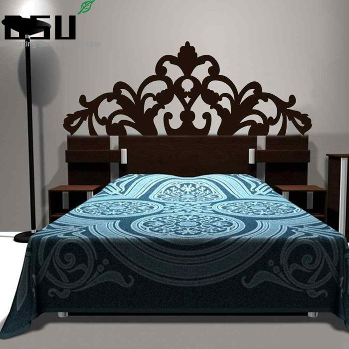 Tremendous Us 10 5 48 Off Brief Baroque Pattern Style Headboard Decal Bed Vinyl Wall Sticker Beautiful Flower Bedroom Dorm Wall Decor Home Wallpaper In Home Interior And Landscaping Staixmapetitesourisinfo