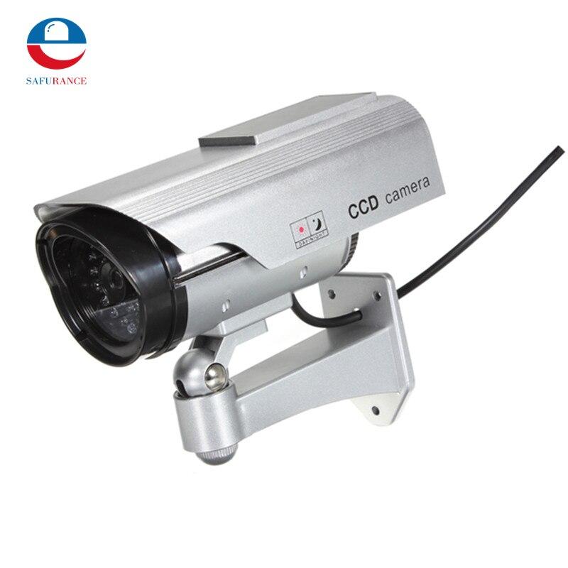 bilder für Solar Power Dummy Gefälschte CCTV Überwachungs Outdoor-LED CCD Kamera Für Häuser Business Neue Ankunft Hohe Qualität