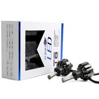 2PCS T6 8 Chip H3 LED Car Auto LED Headlight Bulb 7000lm Bulb Fog Light 6500K