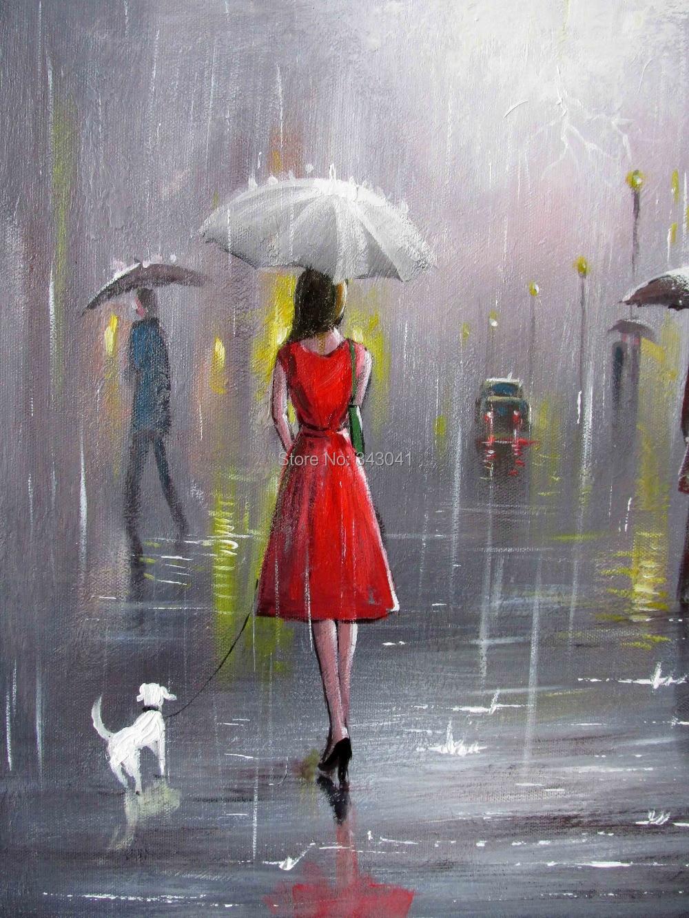 girl in the rain painting   pixshark     images