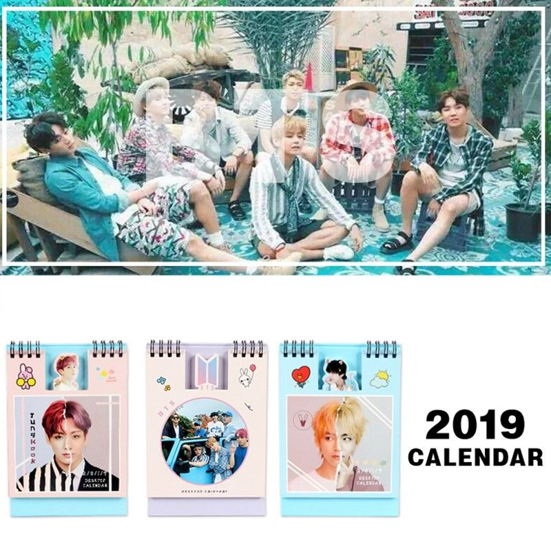 KPOP BTS Bangtan Boys Album V Jung Kook 2019 Mini Picture Photo Desk Calendar Card Books Fans Gift ofna hobao hyper 8sc e 1 8th rtr electric monster truck buggy 4x4 driving off road rc car remote control model vehicle toys