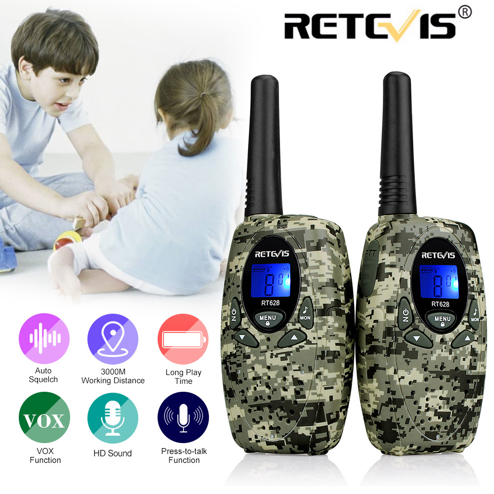 US $17 99 27% OFF|2pcs Mini Walkie Talkie Kids Radio RETEVIS RT628 0 5W 8  Channels UHF Frequency Portable Ham Radio Hf Transceiver Gift A1026B-in