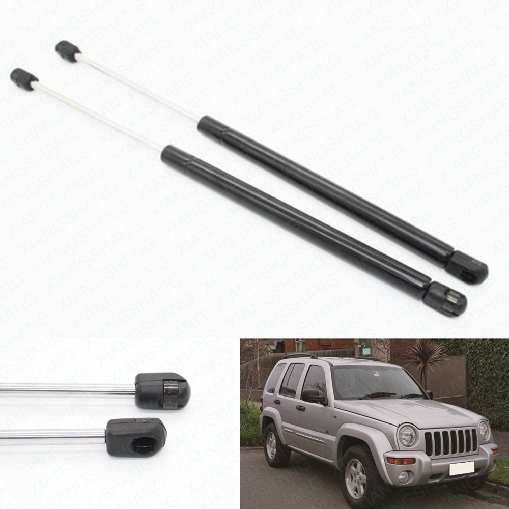 2pcs car hood bonnet gas struts charged auto lift supports fits for jeep liberty kj 2002