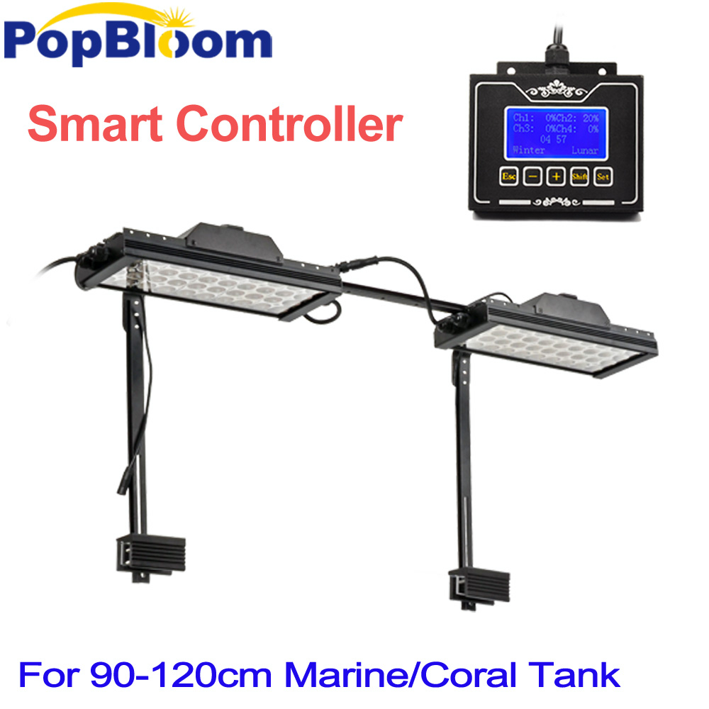 PopBloom Smart Dimmable Led Aquarium Lights chihiros lighting fish tank lamp marine Coral Reef Full Spectrum