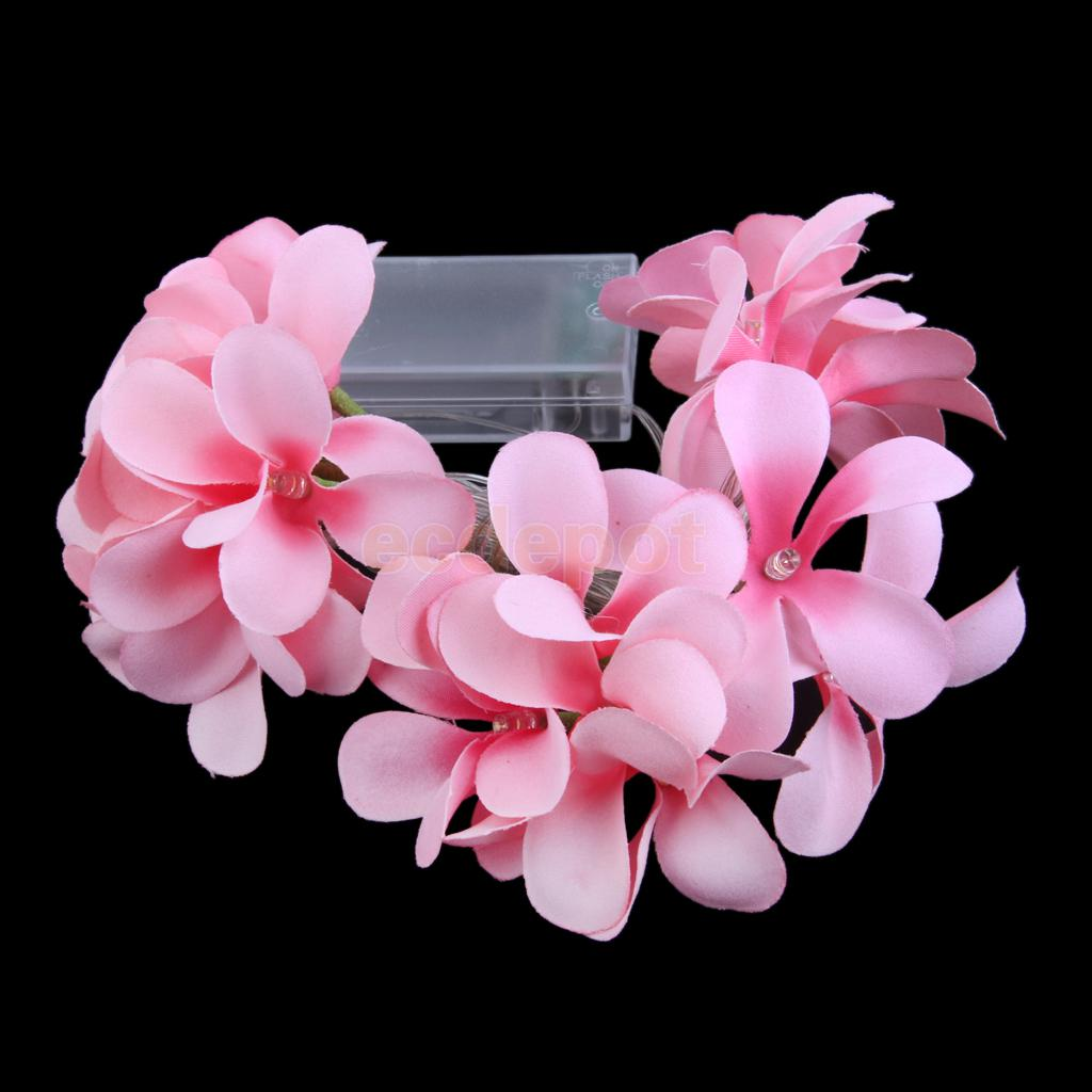 Diy flower string lights - 20 Led 78inch Battery Operated Diwali Plumeria Flower String Lamp Light Diy Decor China