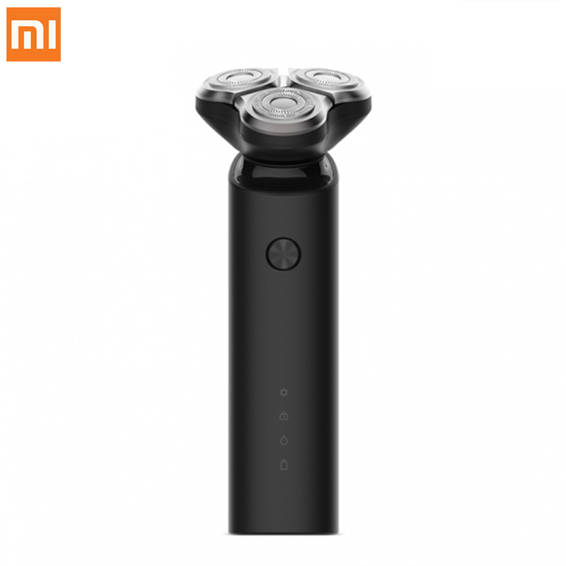 2018 New Xiaomi Mijia Electric Shaver Flex Razor Head 3 Dry Wet Shaving Washable Main-Sub Dual Blade Turbo+ Mode Comfy Clean