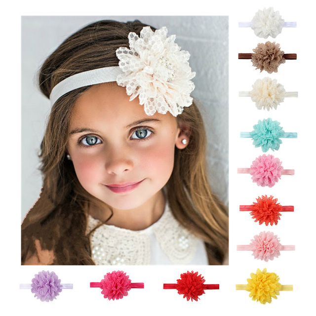 New 1 Pcs Girls Headband Newborn Beautiful Baby Girl Hairband Mesh Grid  Flower Lace Headband Children Hair Accessories 0b75bcd137a