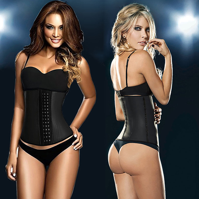 latex waist cincher gaine amincissante corset minceur slimming sheath girdles bustiers and corsets rubber  fitness colthing amp