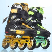 Canfly Slalom Inline Skates 4 Wheels Adult Skating Shoes With Rocking Type PU Wheels For Free Skating Sliding Street Skating