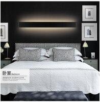 brief black/white led indoor wall lamp aluminum acryl bathroom mirror light living room bed room 30W/91cm IP65 AC95 265V 1757