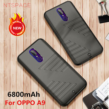 NTSPACE 6800mAh Battery Charger Cases For OPPO A9 Power Case Ultra Slim Portable Bank Cover Extenal