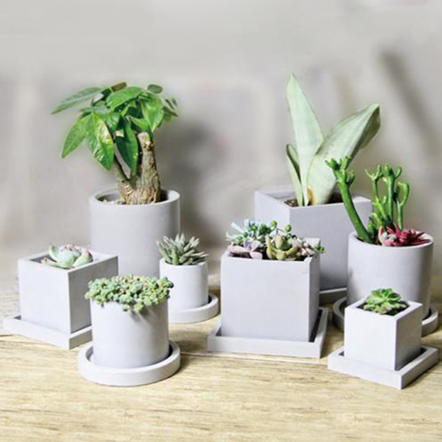 Creative polygon vase concrete planter mold handmade craft