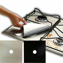 4 Pcs Reusable Protector Gas Range Liner Non Stick Gas Hob Stove Top Cooker Cover Protector Liner
