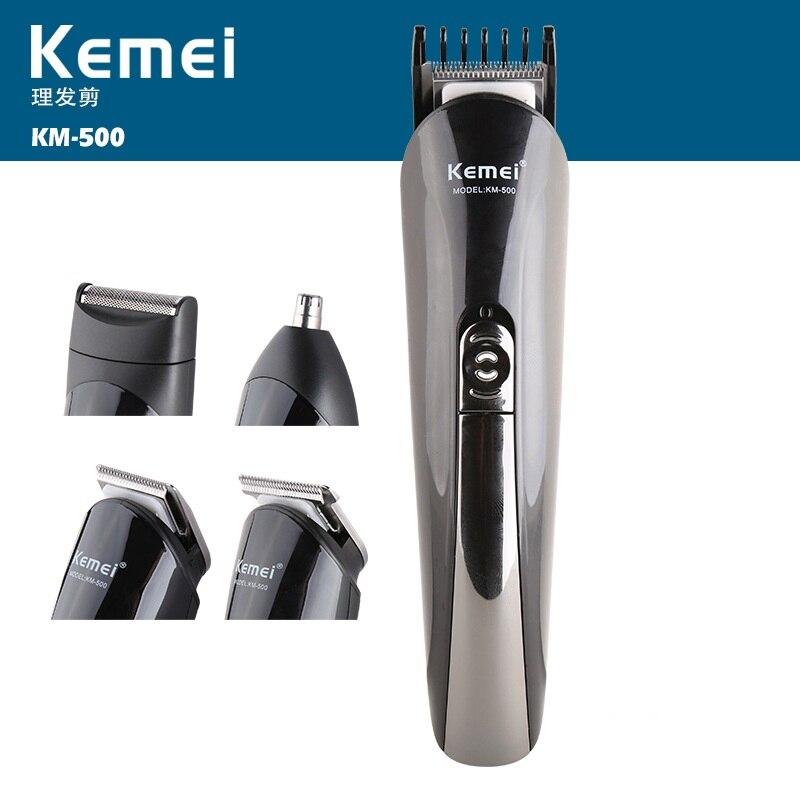 Kemei professionnel 8 en 1 tondeuse à cheveux électrique Rechargeable rasoir rasoir sans fil réglable tondeuse à cheveux KM-500
