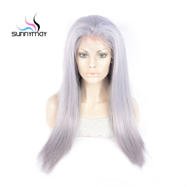 Sunnymay White Color Full Lace Human Hair Wigs Straight Pre Plucked Natural Hair Line Full Lace