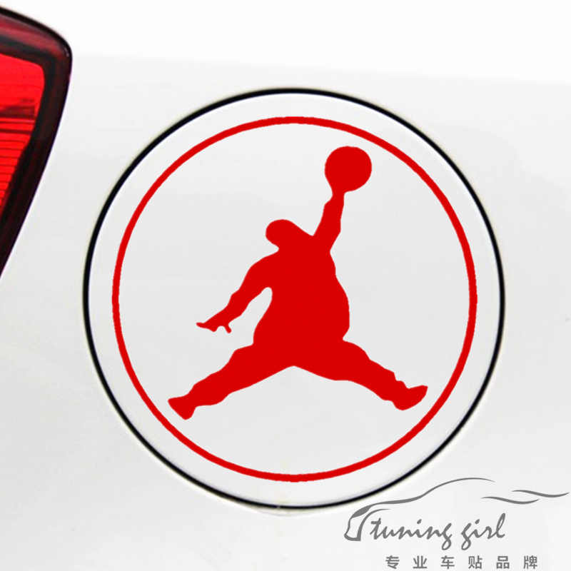 14bba62f11d Car Stickers Basketball Fatty Jordan Funny Creative Decals For Fuel Tank Cap  Auto Tuning Styling 13x13cm