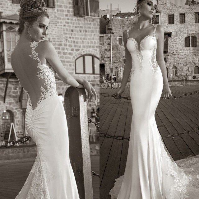 2016 Bridal Gown Collection Sexy Mermaid Open Back Wedding Dress ...