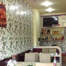 Neue Stil Faux Stein Ziegel 3D Wallpaper Rolle Für Restaurant Hintergrund  Moderne PVC Vinyl Selbstklebende Wohnzimmer