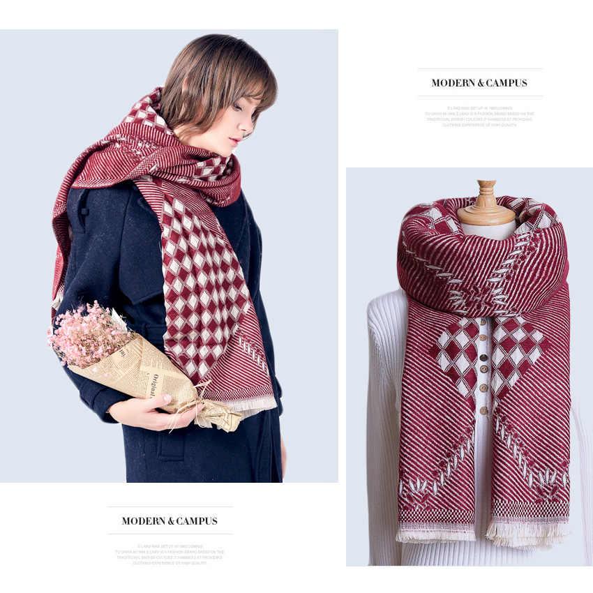 VIANOSI 2019 marca nueva bufanda de invierno las mujeres caliente Foulard Mujer Bufandas secreto de Sjaal