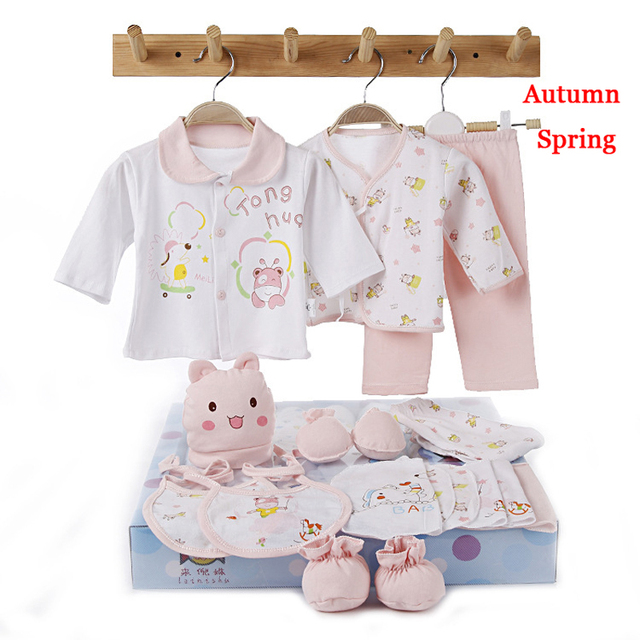 MamaLove18PCS/Set Set 0-6meses Bebê Novo Estilo Conjunto de Roupas de Algodão Recém-nascidos Presente Vendas Hot Infantil Roupa Bonito Frete Grátis