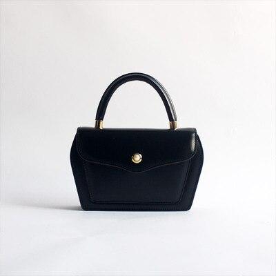 Conception contractée Style femmes noir brun sacs à main dame vache en cuir Messenger sac à bandoulière grande marque Style OL sacs - 6