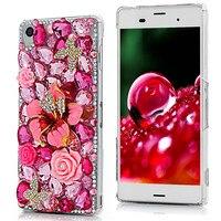 Luxury Girl For Samsung S6 Edge 3D Glitter Diamond Bling Crystal Hard PC Back Cover Case
