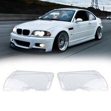 2 шт. левый и правый передние фары объектив крышка лампы для BMW E46 купе 2 двери 1999-2002 большой высокое качество автомобиль-Стайлинг