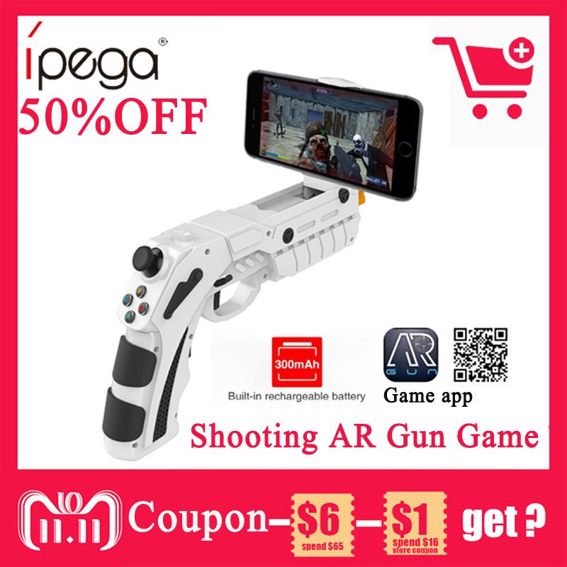 iPega PG-9082 PG 9082 Bluetooth Gamepad Shooting AR Gun Joystick for Android iOS Phone PC AR Game Controller Dynamic lifelike ipega pg 9021 bluetooth wireless gamepad controller joystick for ios android