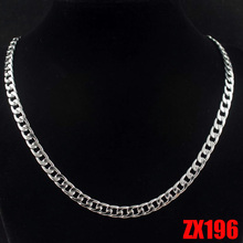 16″-38″ length 6mm Cuba chain stainless steel necklace Figaro chain man male fashion punk jewelry 20pcs ZX196