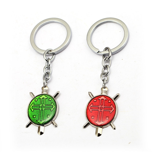 HSIC Hunter X Hunter Keychain Green Red Metal Pendant GON FREECSS License  Key Ring Holder Car Men Jewelry Valentines Day Gift HC fad8e8538709