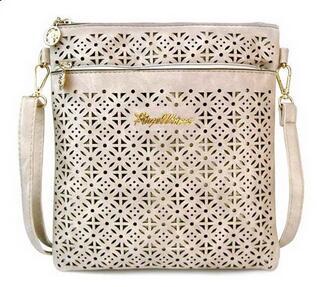 Prix pour 2017 petit messager de sacs casual pu femmes évider bandoulière sacs à main et sacs à bandoulière dames sacs à main des femmes