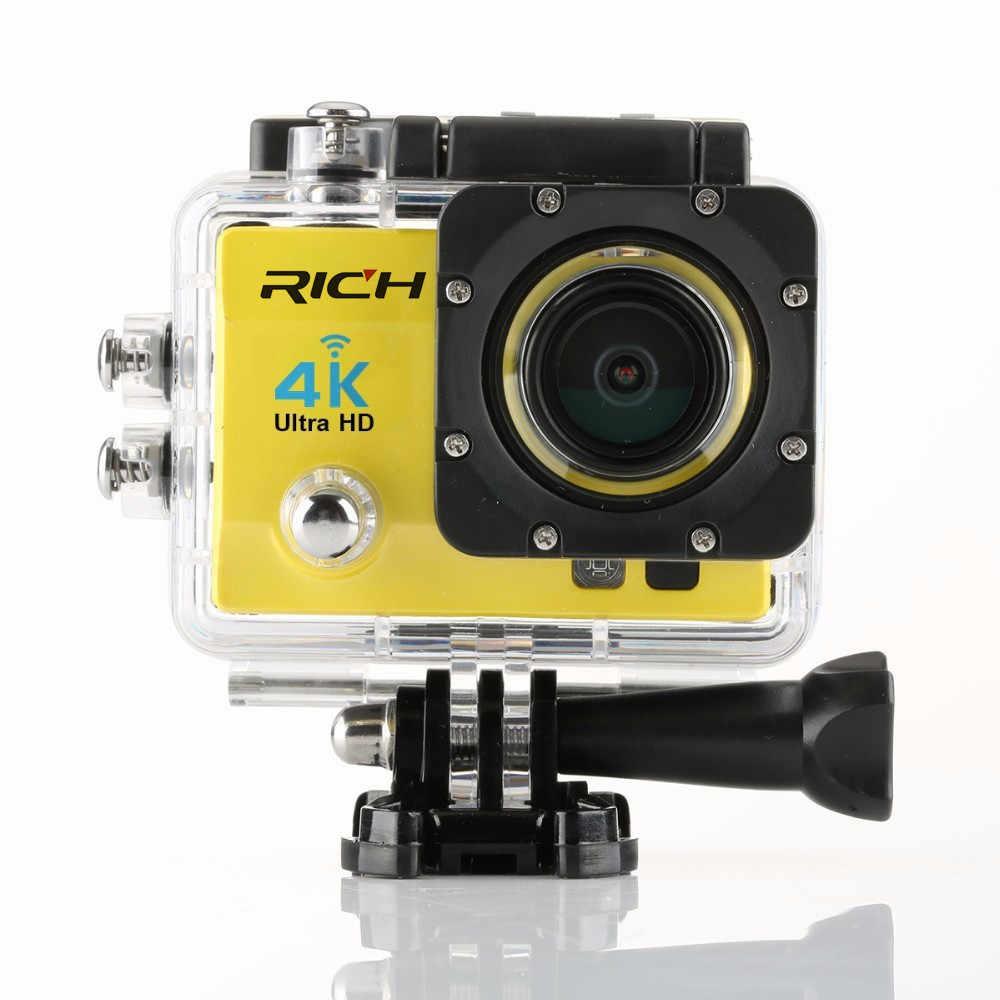 الغنية Q5H الموالية عمل الترا hd 4 كيلو wifi كامل 1080 وعاء الغوص تحت الماء الذهاب خوذة ماء كاميرا العمل الرياضي كاميرا 60fps h9