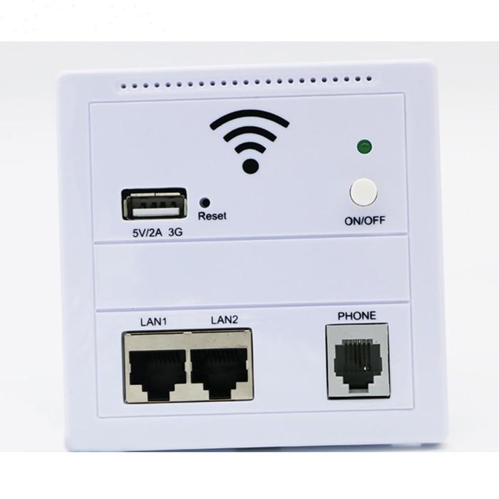 Nouveau mur sans fil AP routeur 3G 5 V 2A sans fil WIFI USB prise de Charge panneau pour ordinateur téléphone portable LAN/téléphone