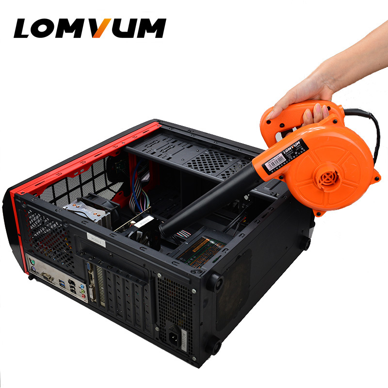 LOMVUM Air Blower 220V 1000W Electric Air Blower Computer Cleaning Blower Dust Vacuum Cleaner Home Car Cleaner Mini Carbon Brush air blower dust cleaner for cameras lenses filters red