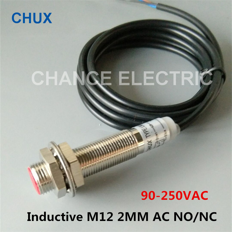 Cylindrical M12 magnetic switch sensor two-wire normally closed AC and DC common