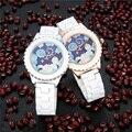 Модные роскошные женские наручные часы Twelve Constellations Scorpio дизайнерские женские кварцевые белые керамические часы с ремешком для подарка на д...