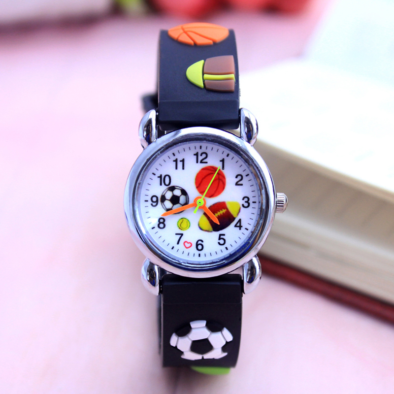 Creative Fashion Cartoon Football Basketball Style Childrens Watches Kids Student Girls Boys Quartz Leather Wrist Watch Clcok Jm111 Children's Watches