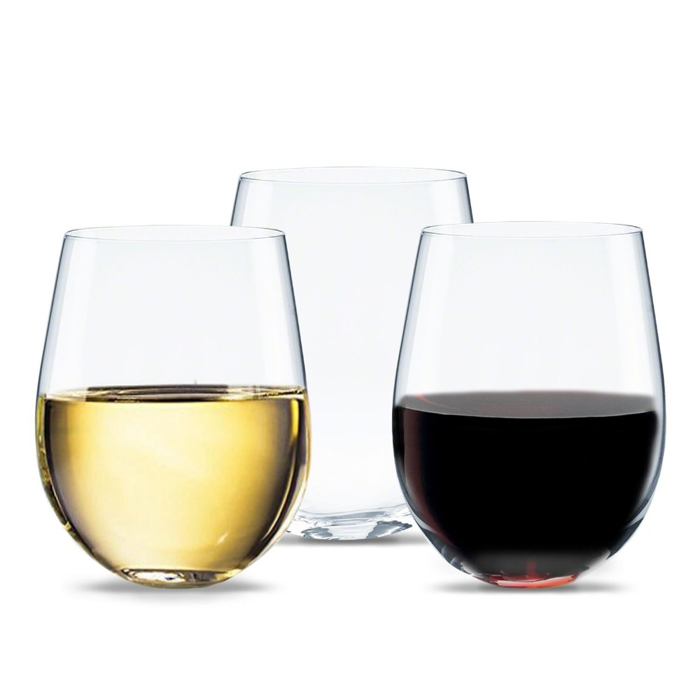 Stemless Pet Wine Glasses Unbreakable Shatterproof