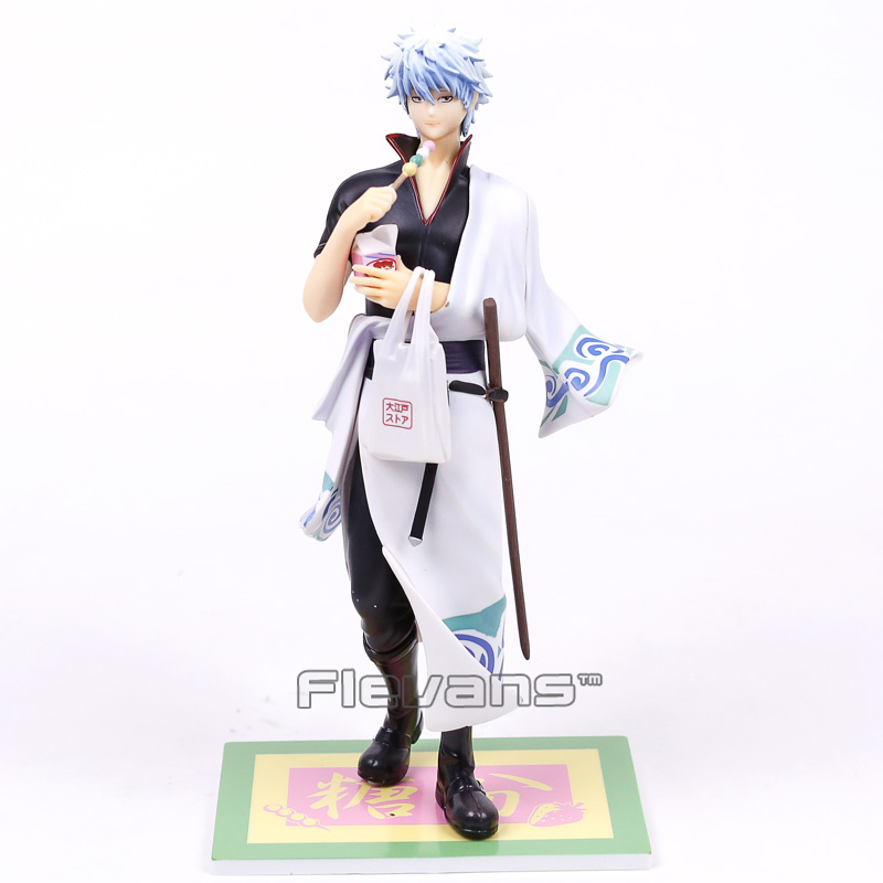 GINTAMA Silver Soul Sakata Gintoki Amatou Ver. PVC Figure Collectible Model Toy 23cm джемпер brave soul brave soul br019ewulg38