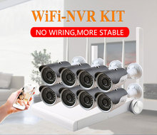 8CH 1080P HD WiFi NVR 8PCS 2MP IR Outdoor Weatherproof CCTV Wireless IP Camera Security Video Surveillance System Kit ip camera video surveillance camera system wireless cctv kit 1080p ip nvr kit ip camera outdoor security system video surveillance kit