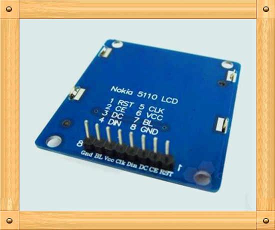 Gratis Verzending! 5110 display module/1.6 inch lcd-scherm/PCD8544 drive/blauw backlight