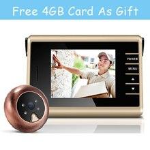 Cheapest prices Free Shipping 3.0″ Video Peephole Digital Wireless Door Viewer Peephole Camera IR Infared Night Recording Smart Door Camera