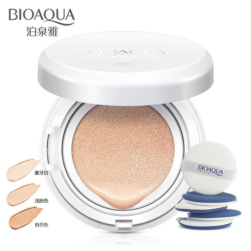 BIOAOUA Solaire Coussin D'air BB Crème Anti-cernes fond de Teint Hydratant Blanchissant Maquillage Impeccable Nu Pour Le Visage Beauté Maquillage