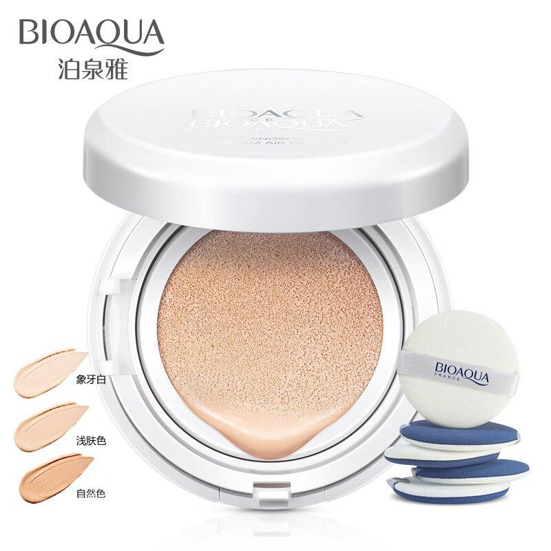 BIOAOUA солнцезащитный крем воздушной подушке BB крем корректор Увлажняющая Основа отбеливающий безупречного макияжа голой для лица Красота м... ...